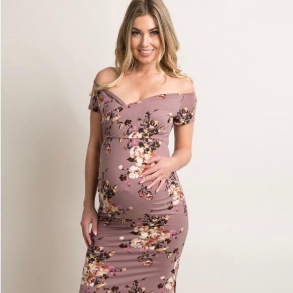 515227c6ca1 Floral Off Shoulder Maternity Dress. M 5b35fb3b3c984401deb8b77c